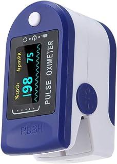 Carrfan Digital Fingertip Pulse Oxi-m-eter LED Display Blood Oxygen Level SpO2 Finger Oxi-m-eter Sensor Saturation Fingert...