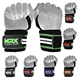 MRX 18' Professional Grade Weight Lifting Wrist Straps with Thumb Loops - Elasticated Cotton Gym Wrist Wraps for Men & Women - Heavy Duty Bodybuilding Powerlifting Crossfit Xfit Training Exercise