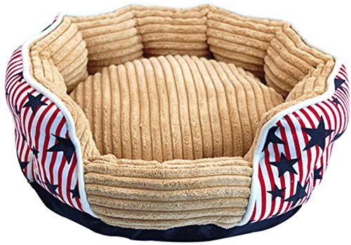 JUIO Pet Bed, Cats Cushion Bed, Dog Hamster Pet Striped Bed Cushion Pad Sofa Kennel House Nests, Guinea Pigs Hedgehogs Chinchilla Sleeping Cushion,Pink, Blue,40 * 17 * 28CM (Size : Pink)