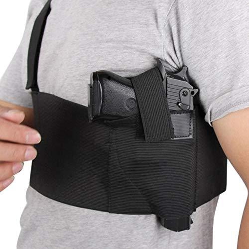Gexgune Tactical Ajustable Banda del Vientre Pistola Pistola Pistola Faja Cinturón (3 Tamaño Opcional)