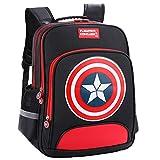 Lonme Mochilas Capitán América Niños Primaria Escuela Bolsas de la Escuela Adolescente Estudiante Mochila Dayback Impermeable