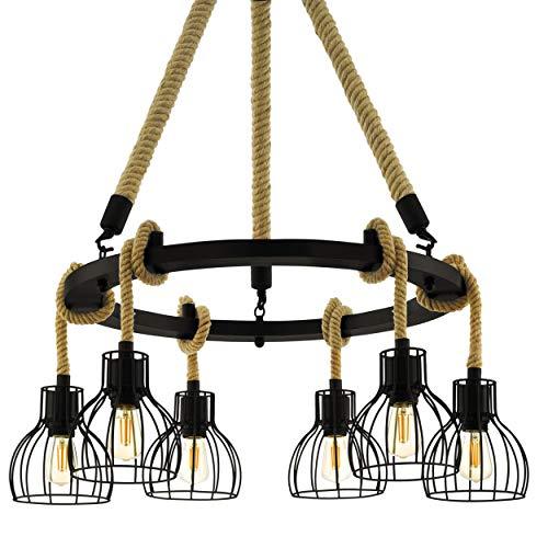 EGLO lamp Rampside, vlammige vintage hanglamp in industrieel ontwerp