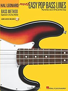 More Easy Pop Bass Lines: Play the Bass Lines of 20 Pop and Rock Songs (Hal Leonard Bass Method)
