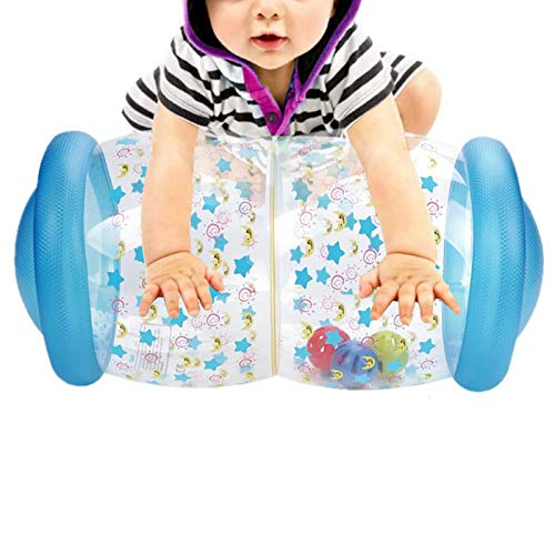 Inflatable Baby Crawling Roller Fitness Toys, Toddler Play Activity Center Exercise Infant Hearing Touch Muscles Coordination, Gifts for Newborn Boys Girls, 0 to 24 Months