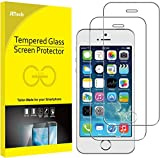 JETech Screen Protector for iPhone SE 2016 (Not for 2020), iPhone 5s, iPhone 5c and iPhone 5, Tempered Glass Film, 2-Pack