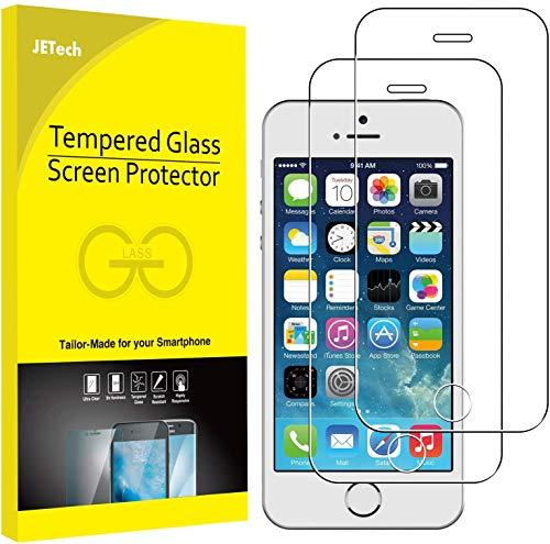 JETech Pellicola Protettiva Compatibile con iPhone SE (Edizione 2016) / 5s / 5 e iPhone 5c, Vetro Temperato, Pacco da 2