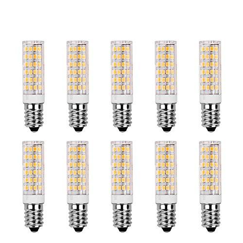 SanGlory 10er Pack E14 LED Birnen,7W / 520LM,ersetzt 60W Halogenlampe Warmweiß 3000K, 360 ° Strahlwinkel Kühlschranklampe/Wandlampe/Tischleuchte/Kronleuchter (10er Pack)