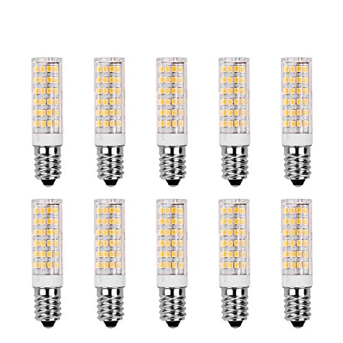 SanGlory 10er Pack E14 LED Birnen,7W / 520LM,ersetzt 60W Halogenlampe Warmweiß 3000K, 360 ° Strahlwinkel Kühlschranklampe/Wandlampe/Tischleuchte/Kronleuchter