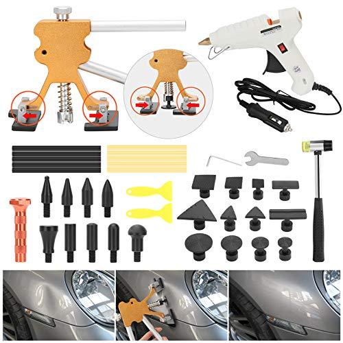 SUPAREE Kit de reparación de abolladuras para coche, para eliminar abolladuras grandes y pequeñas, para coches, reparación de abolladuras