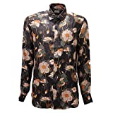 Bagutta 4363AD Camicia Uomo Multicolor Pure Silk Shirt Man [43 (17)]