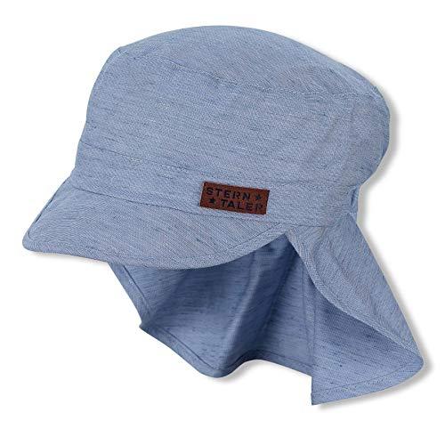 Sterntaler Baby-Jungen m 1622114 Schirmmütze mit Nackenschutz, blau, 53