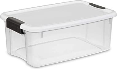 STERILITE 18 Quart Clear Ultra Latch Storage Organizer Container Box (24 Pack)
