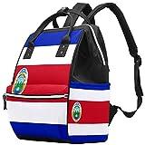 Mochila cambiadora para mamá, con bandera de Costa Rica, multifunción, impermeable, para el cuidado del bebé