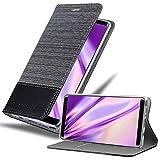 Cadorabo Hülle für Samsung Galaxy Note 8 in GRAU SCHWARZ - Handyhülle mit Magnetverschluss, Standfunktion & Kartenfach - Hülle Cover Schutzhülle Etui Tasche Book Klapp Style