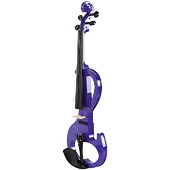 Zetiling Violín, 4/4 Instrumento Musical de violín eléctrico de tamaño Completo Púrpura con Estuche Colofonia para Principiantes: Amazon.es: Hogar