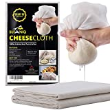 Tela para queso ultrafina de 100% algodón sin blanquear (grado 90) reutilizable de 0,84 metros cuadrados para colar, hacer queso y hornear de Sufaniq.