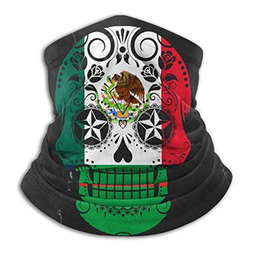 XXUU Bandera Mexicana Sugar Skull Cuello Más Cálido Bufanda De Invierno Multifuncional Unisex Headgear
