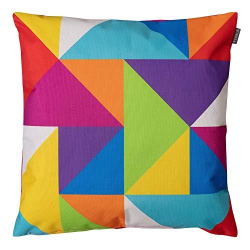 Technicolor et géométriques Imprimé rayé Coussin d'extérieur Collection Technicolour Geometric