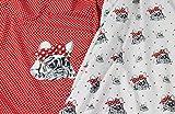 Baumwoll Jersey Panel Französische Bulldogge mit Schleife
