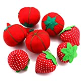 JETEHO 8PCS Tomato and Strawberry Pin Cushions Needle Pincushions for Sewing Quilting Pins Holder