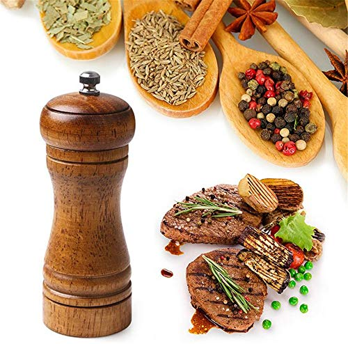 5 Inch Oak Grinder Pepper Grinder Manual pepermolen zout- en pepermolen Multi-Purpose Cruet 2Pcs