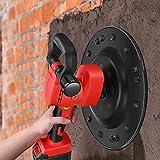 S SMAUTOP Lijadora orbital, lijadora de pared mortero de cemento pequeño máquina pulidora mezcladora y enlucida máquina 2 en 1 lijadora de 6 velocidades, para cemento líquido viscosidad media hormigón