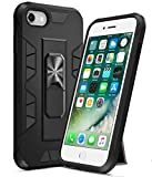 Ruky iPhone 6 6S 7 8 Case, iPhone SE 2020 Case with Kickstand Stand Military Grade Fit for Magnetic Car Mount Heavy Duty Dual Layer Shockproof Phone Case for iPhone 6/6s/7/8/SE 2020 4.7', Black