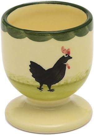 Preisvergleich für Zeller Keramik Hahn und Henne Eierbecher (6 cm)