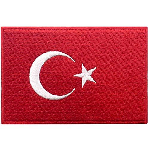 Türkei Flagge Bestickter Aufnäher zum Aufbügeln/Annähen