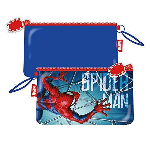 ARDITEX SM13511 Neceser de 24x14cm con Bolsillo de Marvel-Spiderman