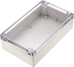 """uxcell 7.9""""x4.7""""x2.2""""(200mmx120mmx56mm) ABS Junction Box Universal Project Enclosure W PC Transparent Cover Light Gray"""