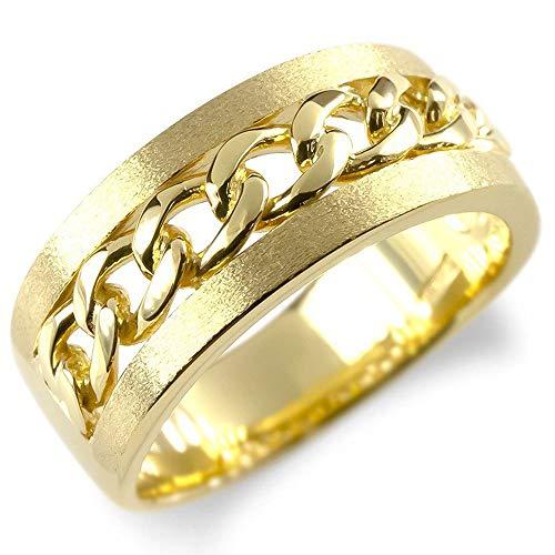 [アトラス] Atrus リング メンズ 18金 イエローゴールドk18 喜平 キヘイ 幅広 地金 つや消し 指輪 18号