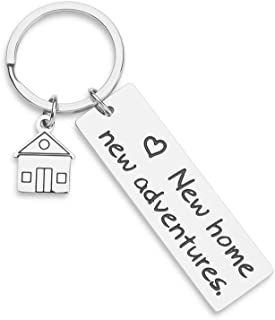 Housewarming Gifts Keychain for New Home Gift First Home Keyring Best Neighbor Gifts Realtor Closing Gifts House Keys New Home New Adventures Presents