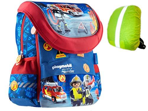 Feuerwehr Playmobil Fire Schulrucksack Schulranzen Regenschutz Schule Rucksack Ranzen