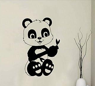 Autocollant mural mode décoration murale autocollant décalcomanie dessin animé Animal créatif Panda bambou Zoo affiche vin...