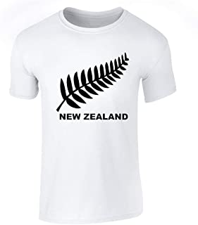 New Zealand Retro Soccer Rugby Kiwi Fern Crest Graphic Tee T-Shirt for Men