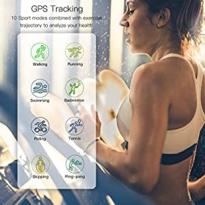 """COULAX Smart Watch, GPS Smartwatch with 1.3"""" Touch Screen, Blood Pressure Fitness Tracker, Activity Tracker with Blood Oxygen Monitor, IP68 Waterproof Sport Watch for Women and Men"""