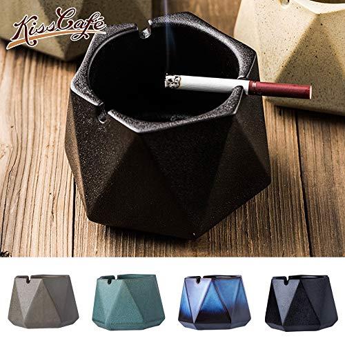 DAGONGREN Estilo nórdico cenicero Creativo cigarro cenicero de cerámica Fumar decoración de Escritorio en casa, Hermoso y Simple (Color : D)