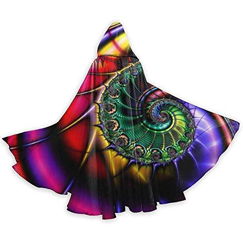 Zome Lag Cape volwassenen spiraal Hippie Unisex Halloween jurk volledige lengte capuchon voor Kerstmis Cosplay Party zwart