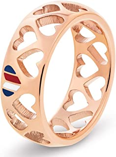TOMMY HILFIGER WOMEN'S IONIC ROSE GOLD PLATED STEEL RINGS -2701095C
