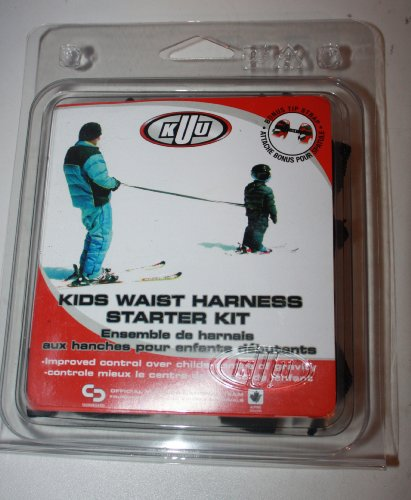 Arnés de cintura KUU de esquí niños-Ski-correa con correa para el pecho negro