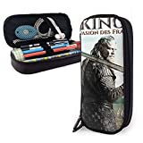 Viking - Estuche de piel para lápices y artículos de papelería para oficina y almacenamiento portátil