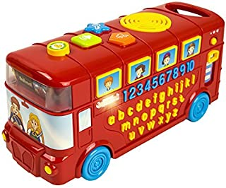 CoolToys My First Learning Bus   School Bus for Babies, Toddlers, Kids   Educational, Sensory Fun with Letters, Numbers, Words, Colors   Learning Playtime with Music + Lights