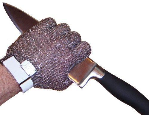 Kettenhandschuh, Austernhandschuh, Schnittschutzhandschuh, Größe M