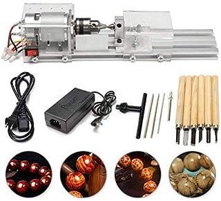 SEAAN Máquina pulidora de perlas de torno mini, mecanizado CNC para madera de mesa, madera, herramienta de bricolaje