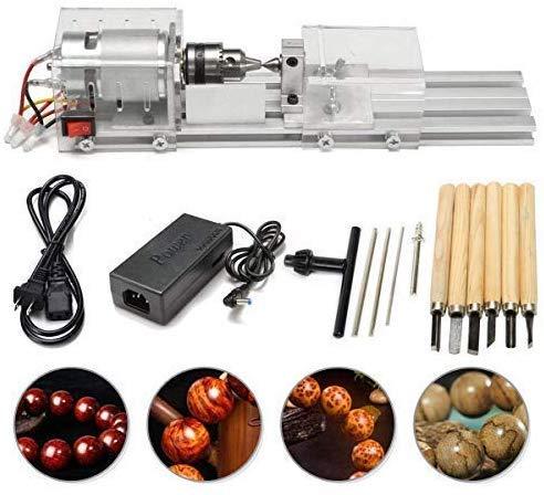 SEAAN Mini Lathe Perlen Polierer Maschine, CNC-Bearbeitung für Tisch Holzbearbeitung Holz, DIY-Drehmaschine