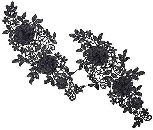 Aeromdale Escote floral encaje Trim cuello apliques coser en parches para vestido...