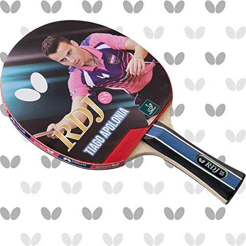 ping pong paddle butterflies 2 Butterfly RDJ S5 Shakehand Table Tennis Racket, RDJ Series, Offers An Ideal Balance Of Speed, Spin And Control, Recommended For Beginning Level Players