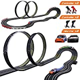 Cusocue High-Speed Electric Powered Super Loop Speedway Slot Car Track Set with Two Cars for Dual Racing, Boys Toys for 3 4 5 6 7 8-16 Years Old Kids Best Gifts