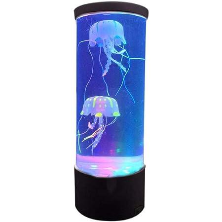 Nakw88 Lampe LED décorative à économie d'énergie, style aquarium avec méduses